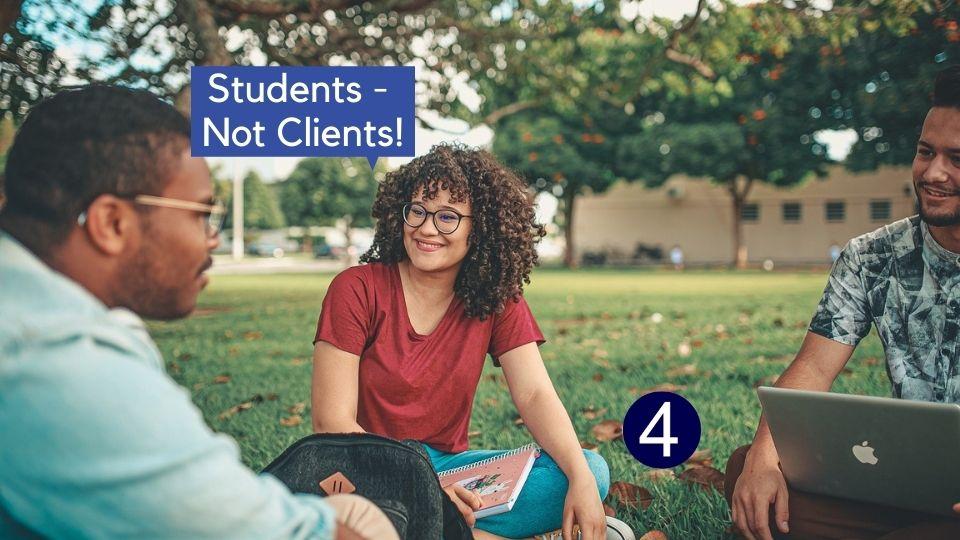 conversation - students not clients jct4 education